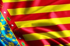 巴伦西亚旗子例证 皇族释放例证