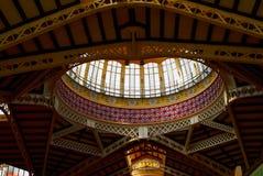 巴伦西亚西班牙Mercado著名老市场大厅 图库摄影
