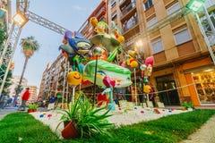 巴伦西亚,西班牙, 2018年3月15日 法利亚斯全国节日  法利亚在区域Benimaclet 图库摄影
