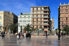 巴伦西亚,西班牙- 2018年11月27日:Plaza de la菲尔根 库存照片