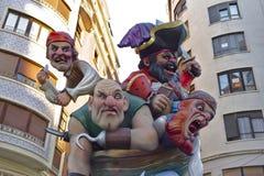 巴伦西亚, Las法利亚斯节日 人类无形的遗产  库存图片