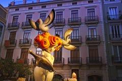 巴伦西亚, Las法利亚斯节日 人类无形的遗产  免版税库存照片