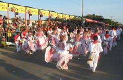 巴兰基利亚carnaval s 免版税库存照片