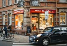 巴内特工匠boulanger面包店法国烹调购物 免版税库存照片