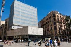巴勃罗・毕卡索` s frize,在大教堂对面 巴塞罗那西班牙 库存图片