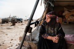 巴勒斯坦流浪的妇女 库存照片