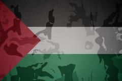 巴勒斯坦的旗子卡其色的纹理的 装甲攻击机体关闭概念标志绿色m4a1军用步枪s射击了数据条工作室作战u 库存照片