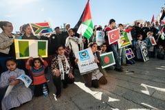 巴勒斯坦联合国投标庆祝 免版税库存图片