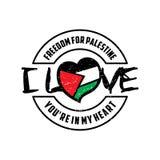巴勒斯坦设计的自由 免版税库存照片