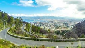 巴勒莫老镇的鸟瞰图,西西里岛,意大利 影视素材