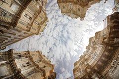 巴勒莫,广场比耶纳我Quattro Canti 库存照片