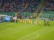 巴勒莫,意大利- 2018年6月13日-美国CittÃ二巴勒莫对弗罗西诺内Calcio -意乙2017-2018淘汰赛决赛 图库摄影