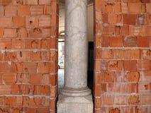 巴勒莫,西西里岛,意大利 大厦的整修 免版税库存图片