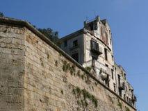 巴勒莫,西西里岛,意大利 11/04/2010 被贬低的和无人居住的hou 免版税库存图片