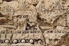 巴勒贝克-古老腓尼基城市废墟  免版税库存图片