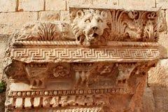 巴勒贝克-古老腓尼基城市废墟  免版税库存照片
