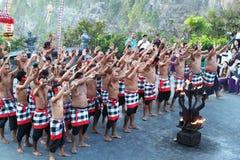 巴厘岛传统舞蹈的kecak 库存照片