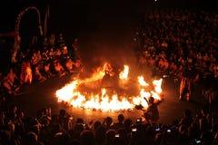 巴厘岛传统舞蹈的kecak 免版税库存照片