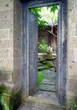 巴厘岛入口庭院房子 免版税库存图片