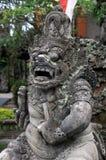 巴厘岛古老宗教雕象Ubud 免版税库存照片