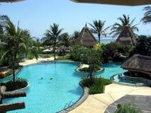 巴厘岛天堂池 库存照片