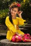 巴厘岛女孩 免版税库存图片