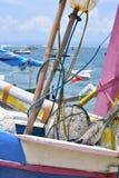 巴厘岛小船,航行,五颜六色的小船 免版税图库摄影