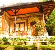 巴厘岛房子。 免版税库存照片