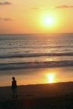 巴厘岛日落 免版税库存图片