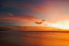 巴厘岛日落 免版税图库摄影