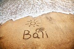 巴厘岛沙子 免版税图库摄影