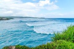 巴厘岛波浪  库存照片