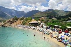 巴厘岛海滩盐水湖 免版税库存照片