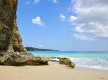 巴厘岛海滩美丽的印度尼西亚海岛 库存图片