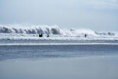 巴厘岛海滩kuta海浪 库存照片