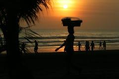 巴厘岛海滩kuta 免版税库存照片