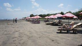 巴厘岛海滩seminyak 库存图片
