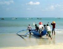 巴厘岛渔夫印度尼西亚 库存照片