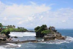 巴厘岛神海运寺庙 库存照片