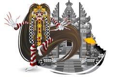 巴厘岛舞蹈传统泄漏的rangda 免版税库存照片