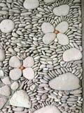 巴厘岛详细资料小卵石墙壁 免版税库存图片