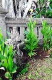 巴厘岛雕刻寺庙 库存照片