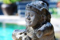 巴厘岛雕象 库存照片