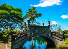 巴厘岛,印度尼西亚- 2012年4月15日:水宫殿塔曼Ujung 免版税库存照片