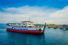 巴厘岛,印度尼西亚- 2017年4月05日:轮渡在外南梦Gilimanuk在Ubud,巴厘岛 免版税库存图片