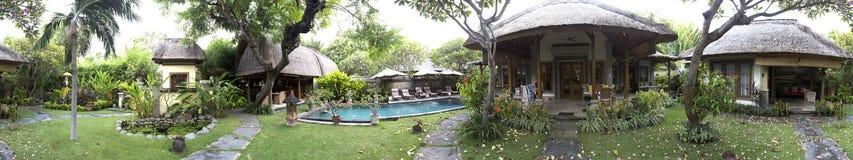 巴厘岛- 10月23 :海岛的北部的旅馆在Pemuteran 一栋别墅的疆土2016年10月23日的在巴厘岛,印度尼西亚 库存图片