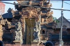 巴厘岛arquitecture在Ubud印度尼西亚 免版税库存照片