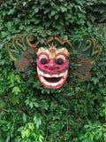巴厘岛barong屏蔽传统木 免版税库存照片