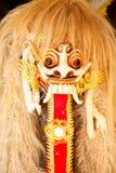 巴厘岛barong舞蹈印度尼西亚狮子屏蔽 免版税库存照片