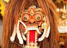 巴厘岛barong舞蹈印度尼西亚狮子屏蔽 库存照片